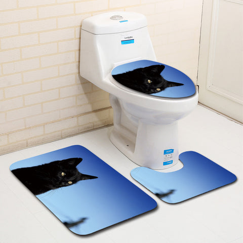 Anti-Slip Cat printed Bathroom Rugs Set- Best Bathroom Decor By Blissfactory Pet Supplies