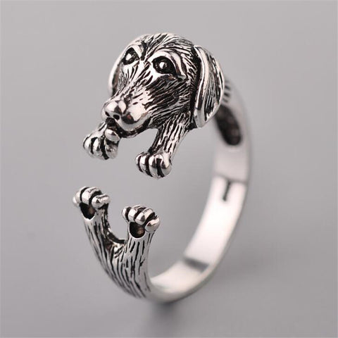 "Cute Dog ""Dachshund"" Promise Rings 