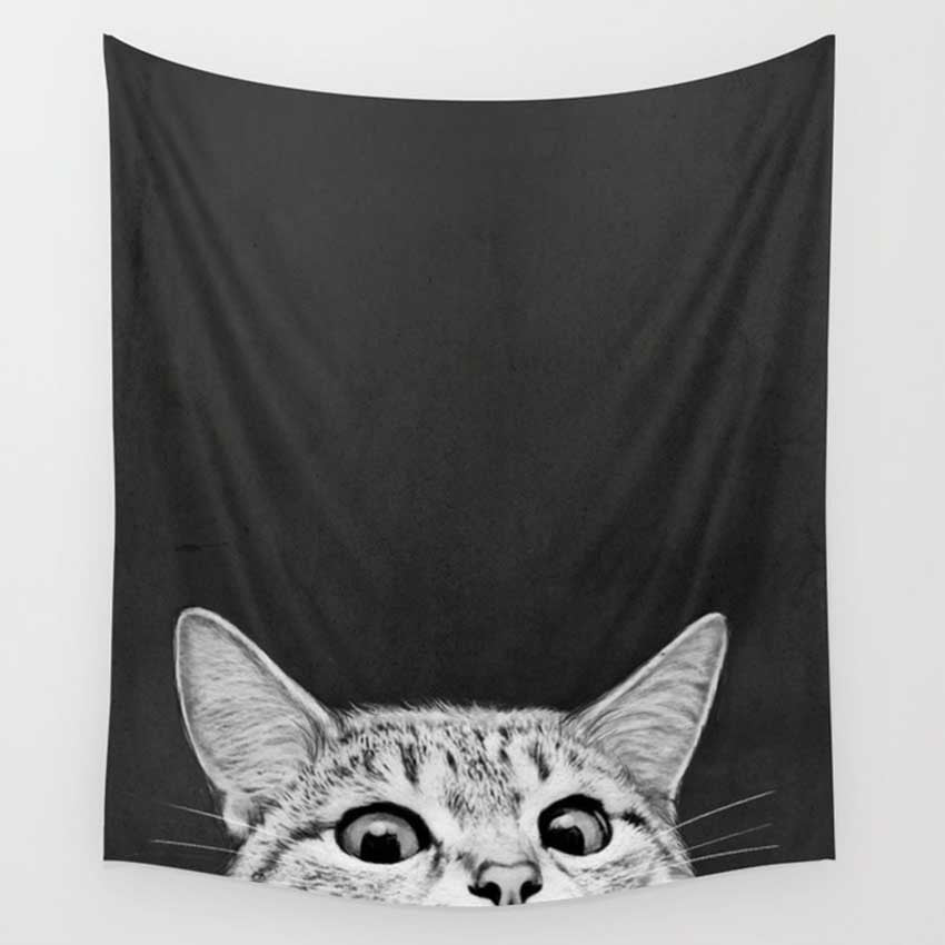 Cheeky Cat Blanket cheeky cat  by Blissfactory Pet Supplies