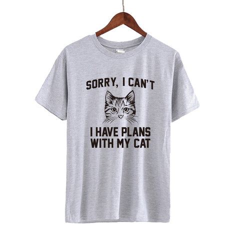 Funny Cat Shirts- Cool t-shirts Gray by Blissfactory Pet Supplies