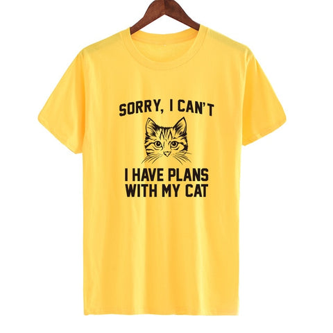Funny Cat Shirts- Cool t-shirts Yellow by Blissfactory Pet Supplies