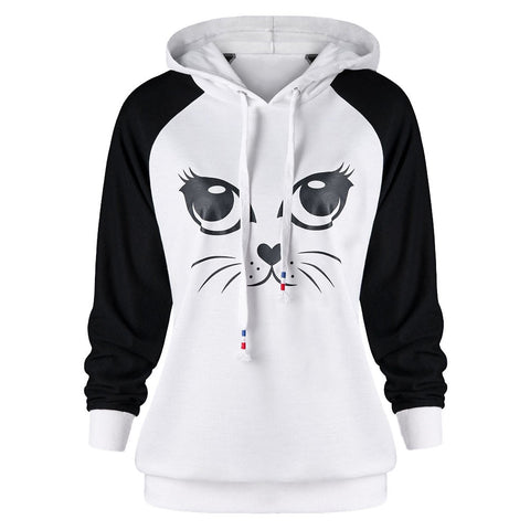 Image of Cute Cat Hoodies For Men or Women black by Blissfactory Pet Supplies