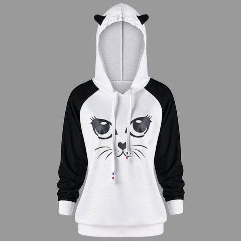 Image of Cute Cat Hoodies For Men or Women by Blissfactory Pet Supplies