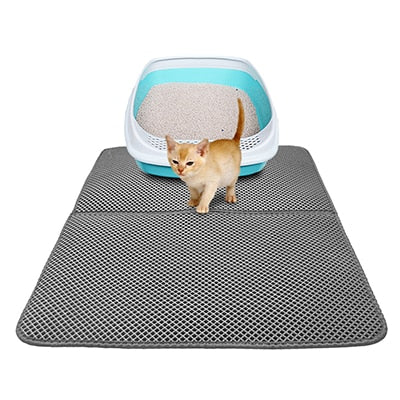 EasyClean™ Cat Litter Mat- best Litter Box gray by Blissfactory Pet Supplies