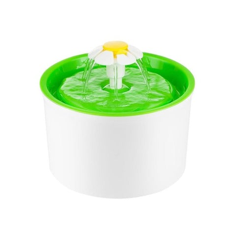 Automatic Cat Water Fountain or Dog Water Fountain green  by Blissfactory Pet Supplies