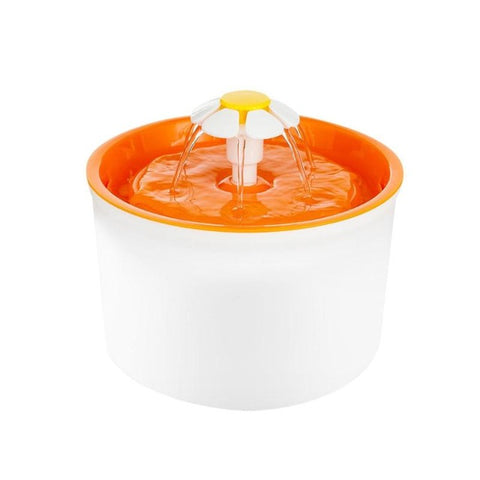 Automatic Cat Water Fountain or Dog Water Fountain orange by Blissfactory Pet Supplies