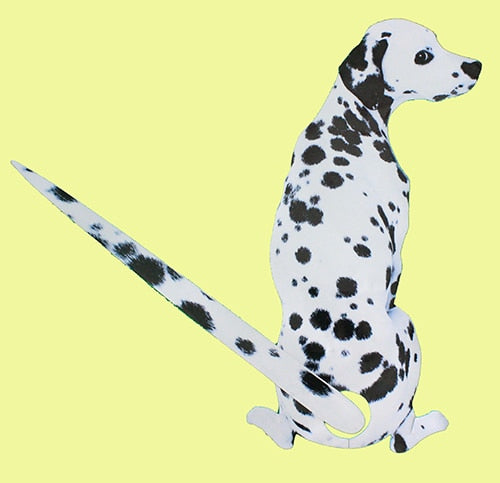 Moving Tail Dalmatian Car Sticker- Window Stickers by Blissfactory Pet Supplies