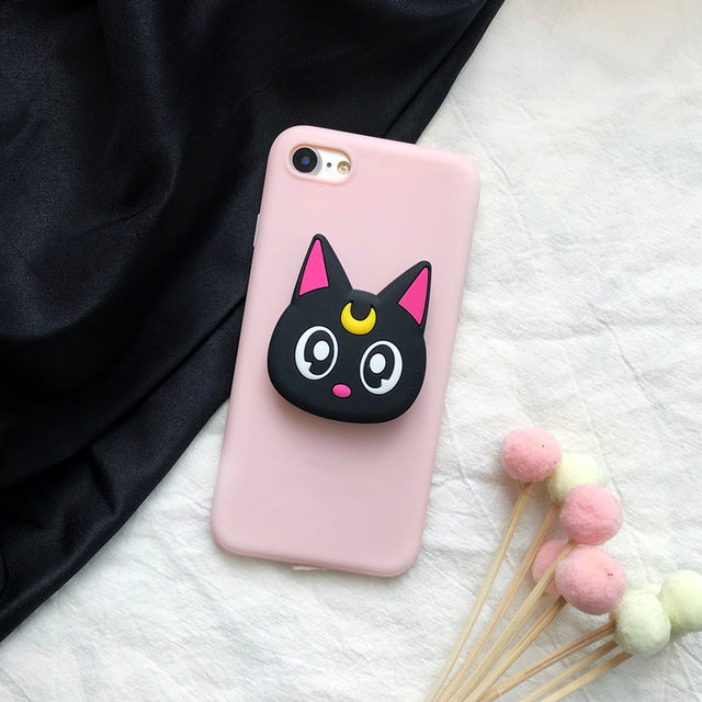 Meowing 3D Luna Cat Phone Case for iPhone and Samsung phones