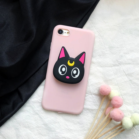 Image of Meowing 3D Luna Cat Phone Case for iPhone and Samsung phones