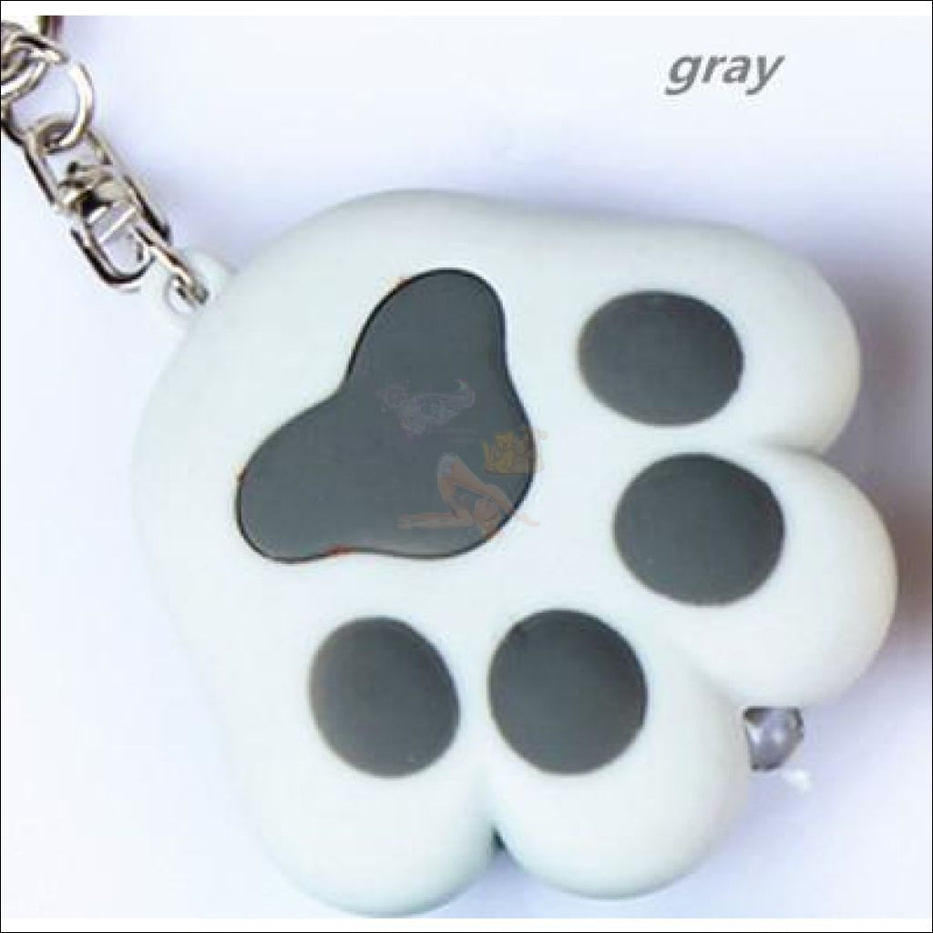 Promo: Cute Led Keychain Paw With Meow Sound Gray