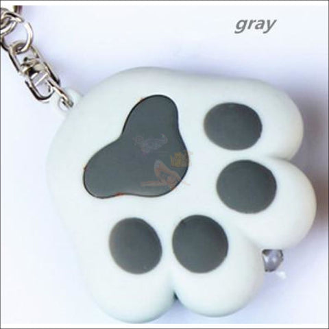 Cat Paw Cute Keychains with Flashlight- Best key Rings Gray by Blissfactory Pet Supplies
