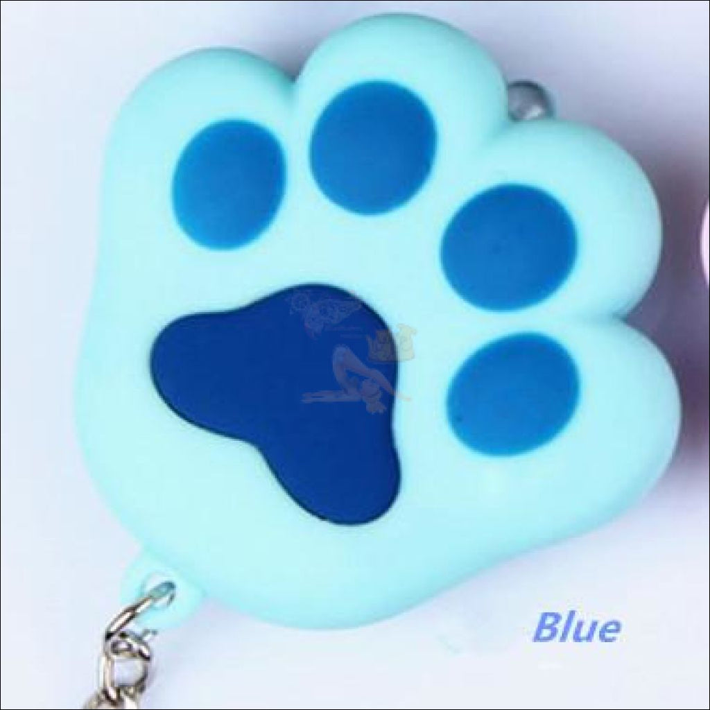 Cat Paw Cute Keychains with Flashlight- Best key Rings Blue by Blissfactory Pet Supplies