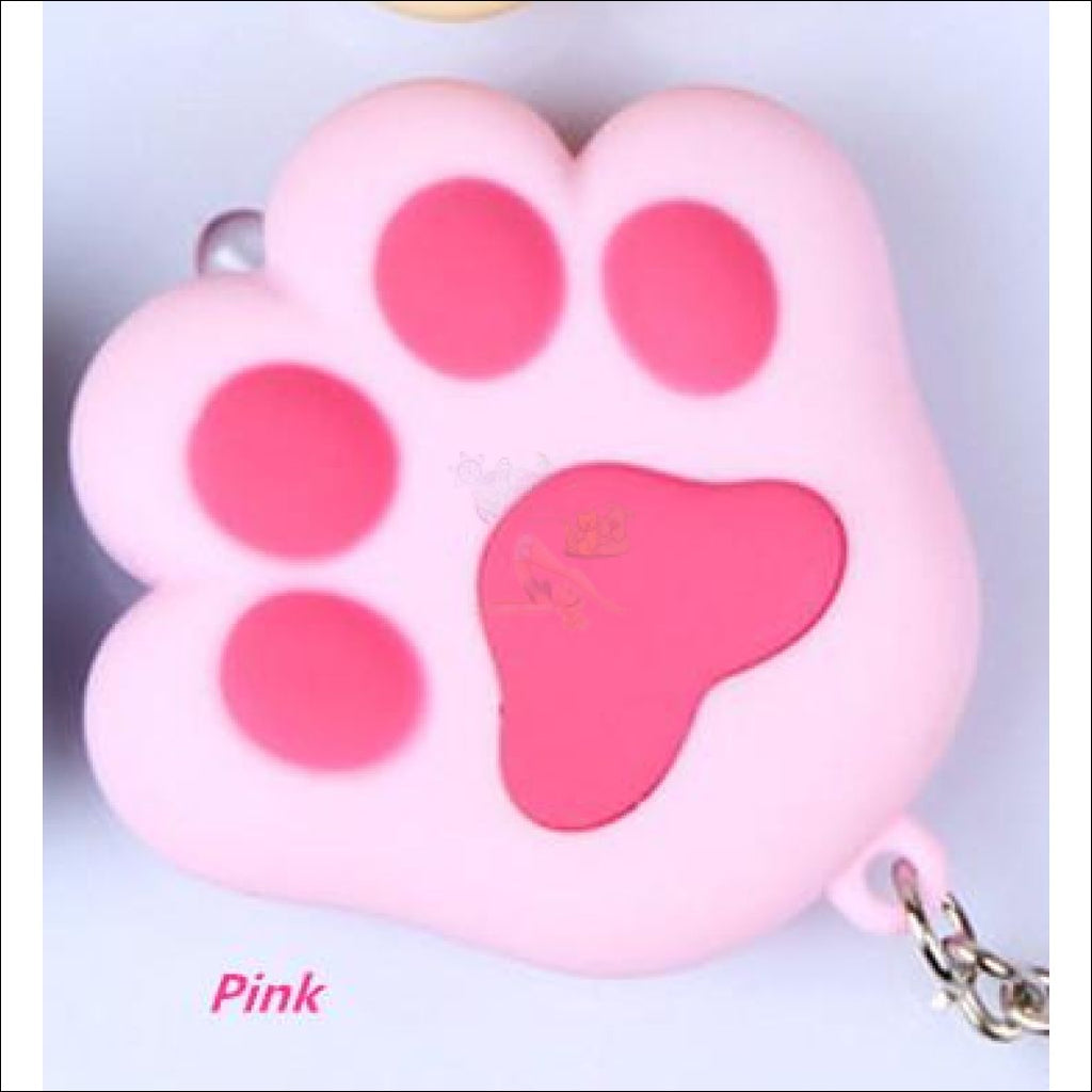 Cat Paw Cute Keychains with Flashlight- Best key Rings Pink by Blissfactory Pet Supplies