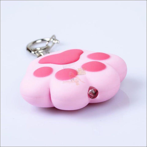 Image of Cat Paw Cute Keychains with Flashlight- Best key Rings Pink by Blissfactory Pet Supplies
