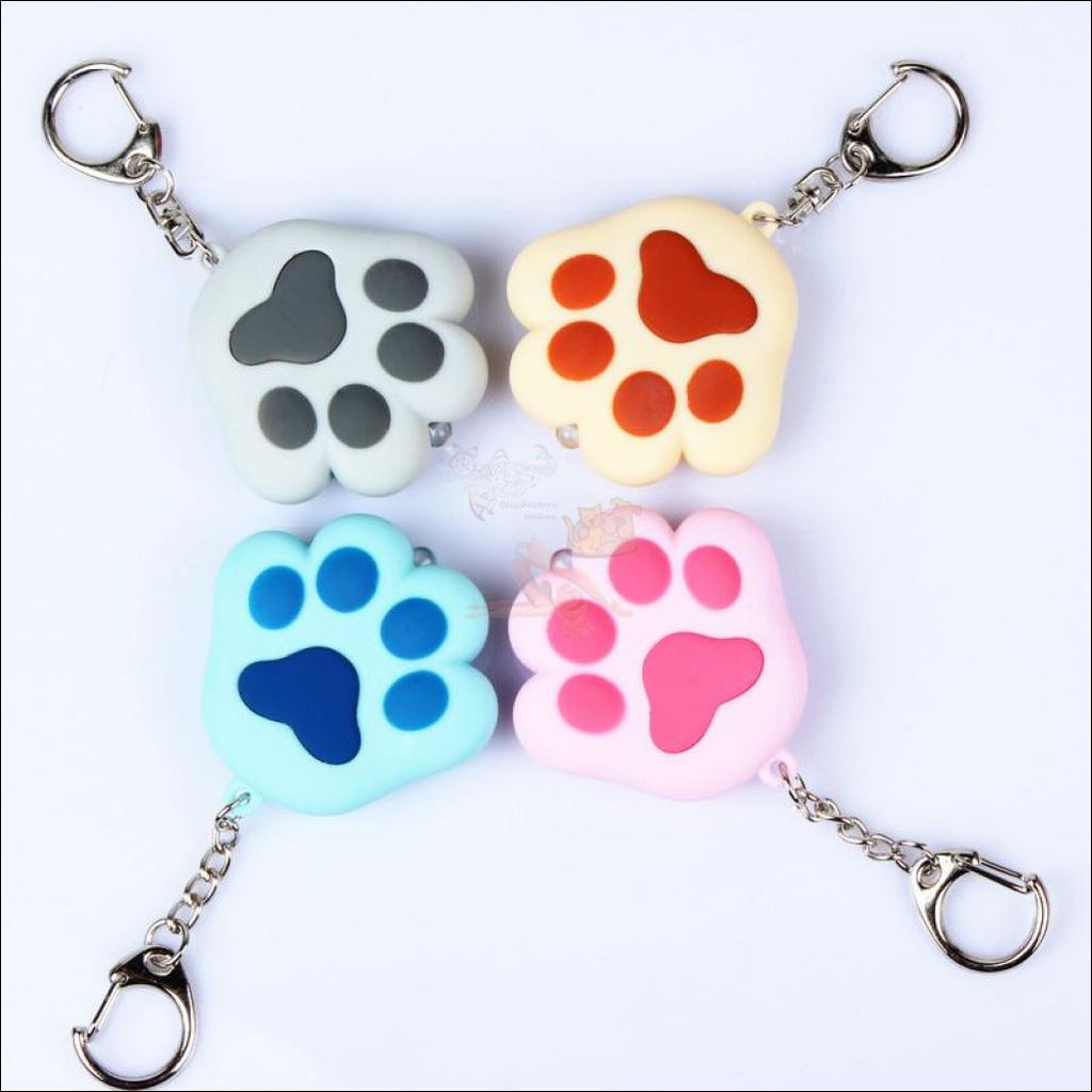 Cat Paw Cute Keychains with Flashlight- Best key Rings 4 colors by Blissfactory Pet Supplies