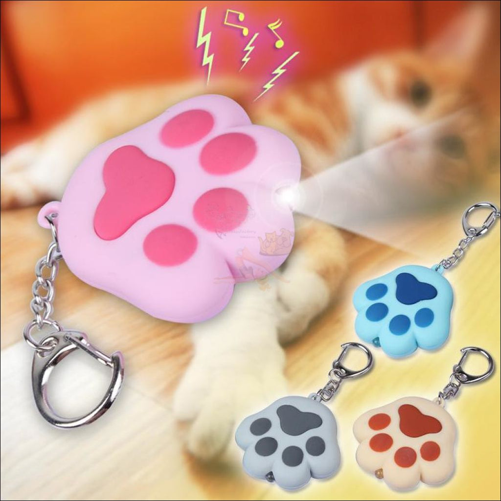 Cat Paw Cute Keychains with Flashlight- Best key Rings Different colors by Blissfactory Pet Supplies