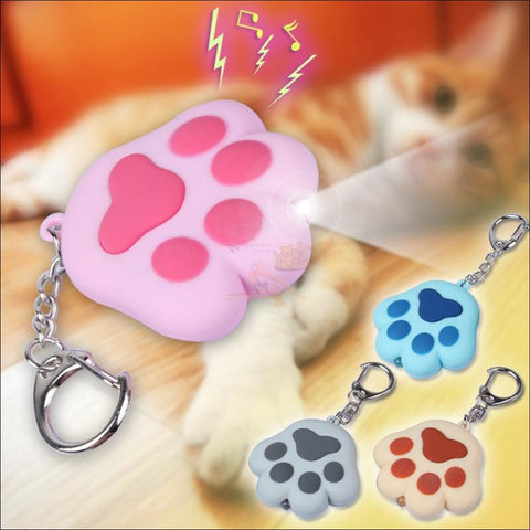 Image of Cat Paw Cute Keychains with Flashlight- Best key Rings Different colors by Blissfactory Pet Supplies