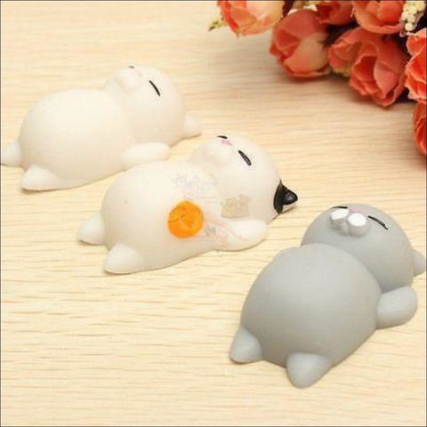 Cat Shaped stress balls Squeeze Toy -Best stress toys 3 styles by Blissfactory Pet Supplies