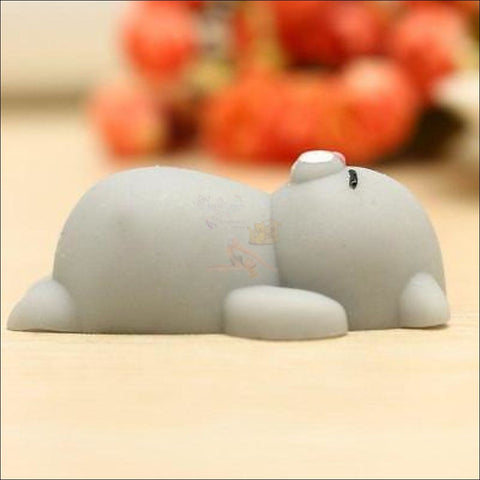Cat Shaped stress balls Squeeze Toy -Best stress toys Gray by Blissfactory Pet Supplies