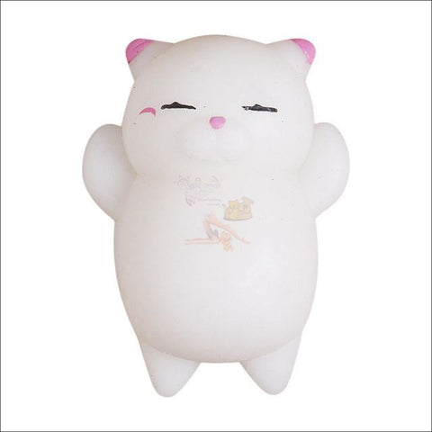Image of Cat Shaped stress balls Squeeze Toy -Best stress toys Pink by Blissfactory Pet Supplies