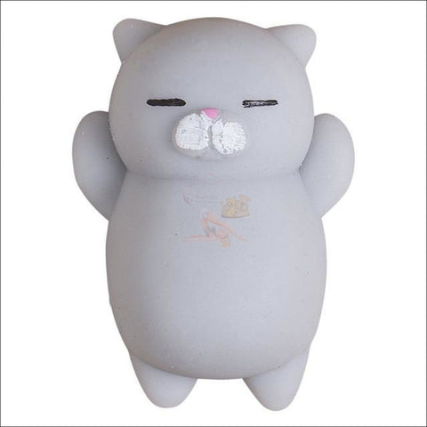 Image of Cat Shaped stress balls Squeeze Toy -Best stress toys Gray by Blissfactory Pet Supplies
