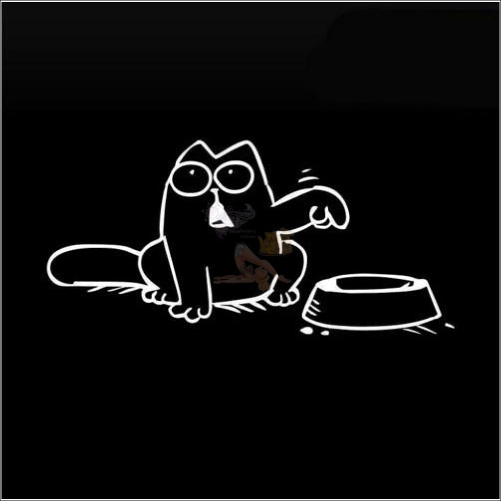 Simon's Cat Car Stickers - Best Bumper stickers White by Blissfactory Pet Supplies