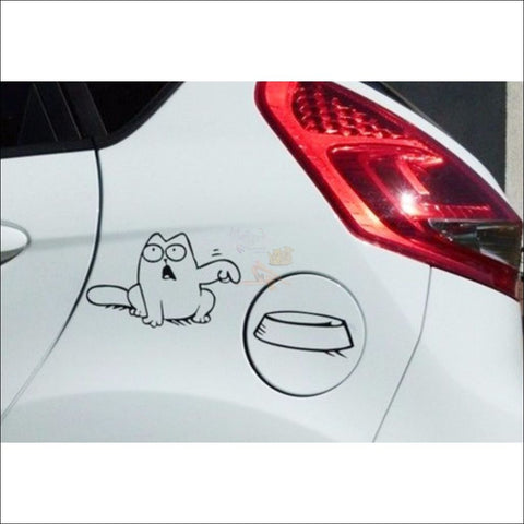 Promo: Simon's Cat Vinyl Sticker - Feed Me! (Free Shipping)
