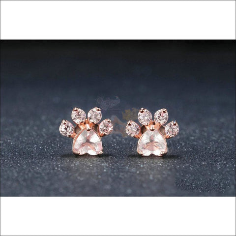 Cat Rose Gold Earrings - Best pearl earrings Design by Blissfactory Pet Supplies
