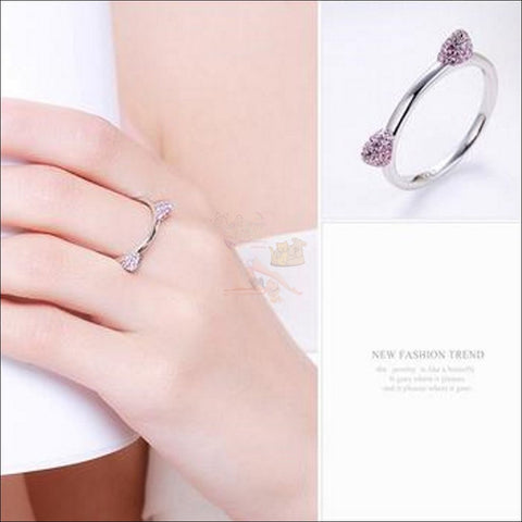Cute Cat Ears Promise Rings- Best sterling silver rings by Blissfactory Pet Supplies