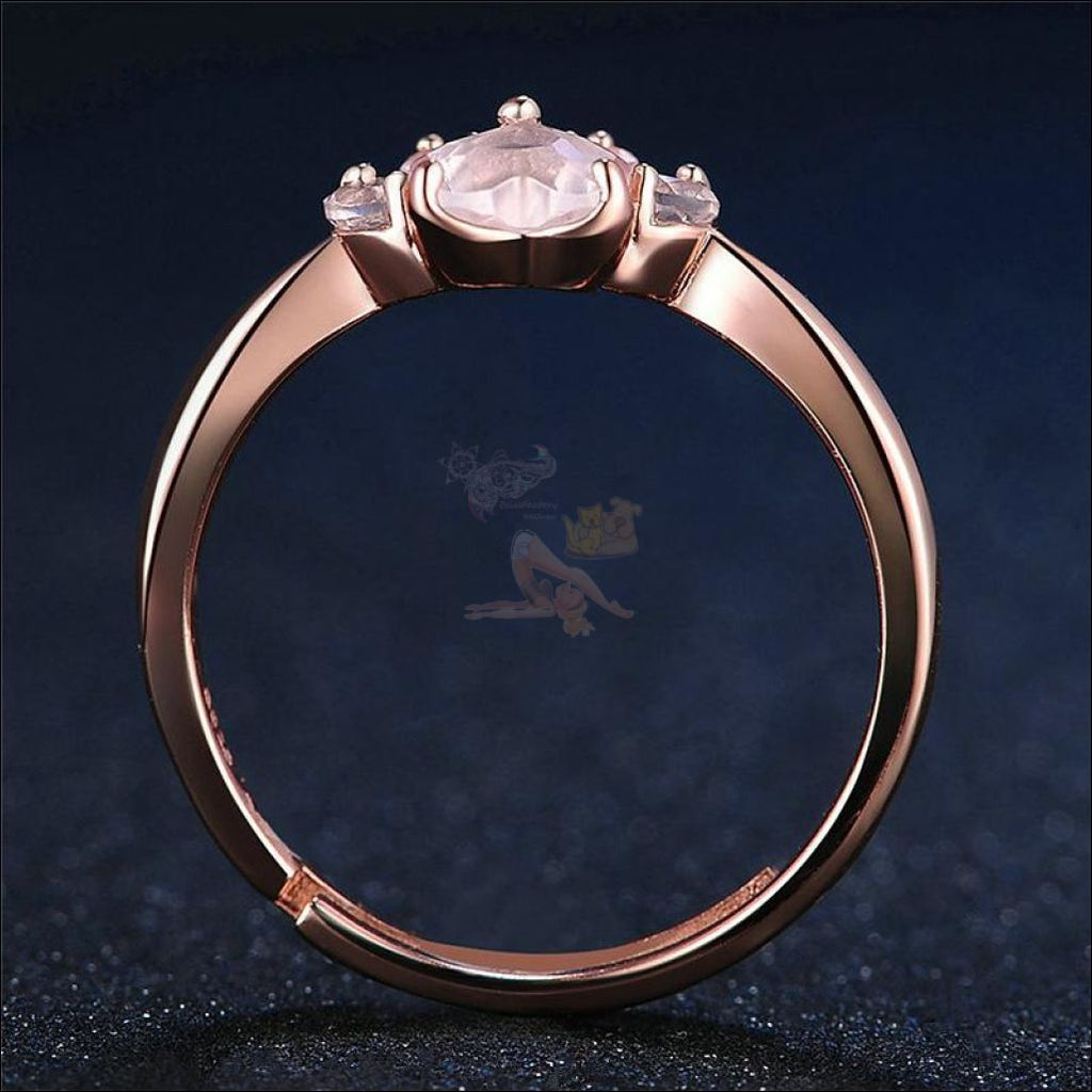 Real 925 Sterling Silver Kitten/puppy Rose Gold Paw Resizable Ring