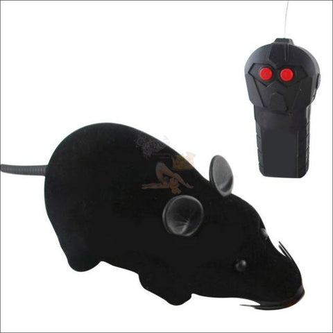 Remote Control Mouse - Best Cat Toys Black by Blissfactory Pet Supplies