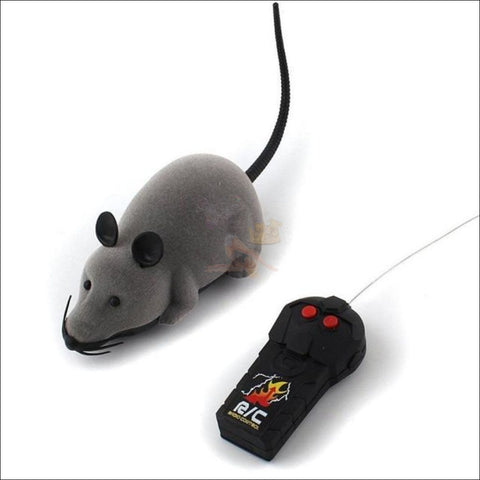 Image of Remote Control Mouse - Best Cat Toys Gray by Blissfactory Pet Supplies