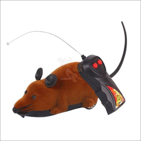 Image of Remote Control Mouse - Best Cat Toys Brown by Blissfactory Pet Supplies