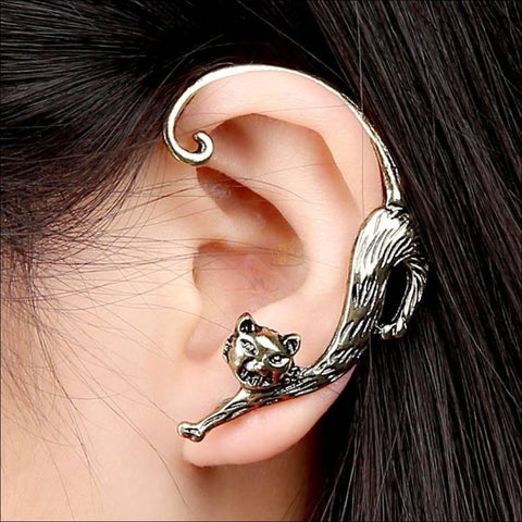 Image of Slinky Cat Ear Cuff -  Best Earrings for women mockup design by Blissfactory Pet Supplies