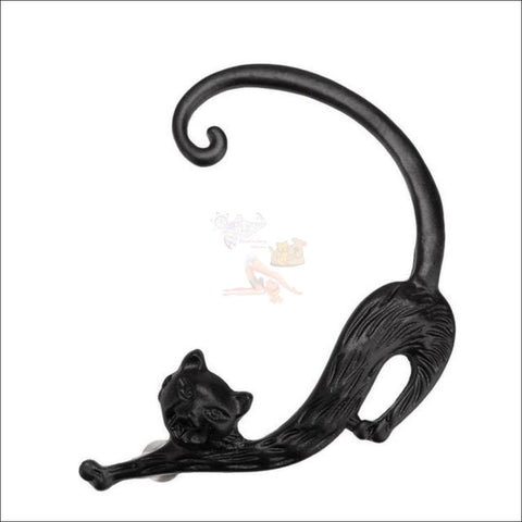Image of Slinky Cat Ear Cuff - 35% Off! Black Ring