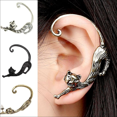 Slinky Cat Ear Cuff -  Best Earrings for women 3 colors by Blissfactory Pet Supplies