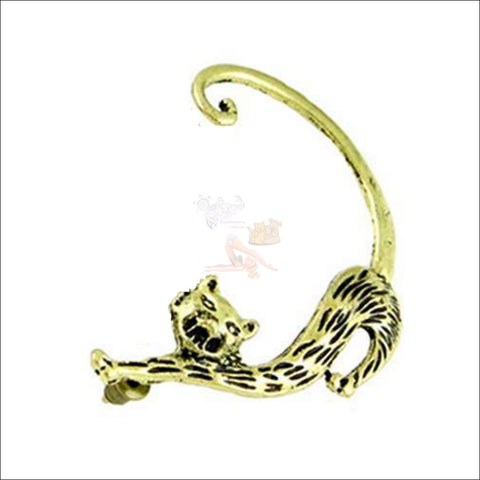 Image of Slinky Cat Ear Cuff -  Best Earrings for women Gold Plated by Blissfactory Pet Supplies