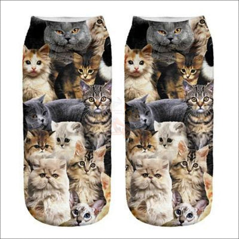 Cute 3d Design Cat Socks | Crazy socks | Funny socks Cat Pack By Blissfactory Pet Supplies