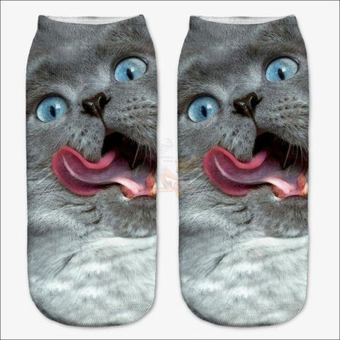 Cute 3d Design Cat Socks | Crazy socks | Funny socks Crazy cat By Blissfactory Pet Supplies