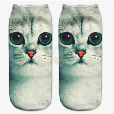 Cute 3d Design Cat Socks | Crazy socks | Funny socks Cute Cat By Blissfactory Pet Supplies