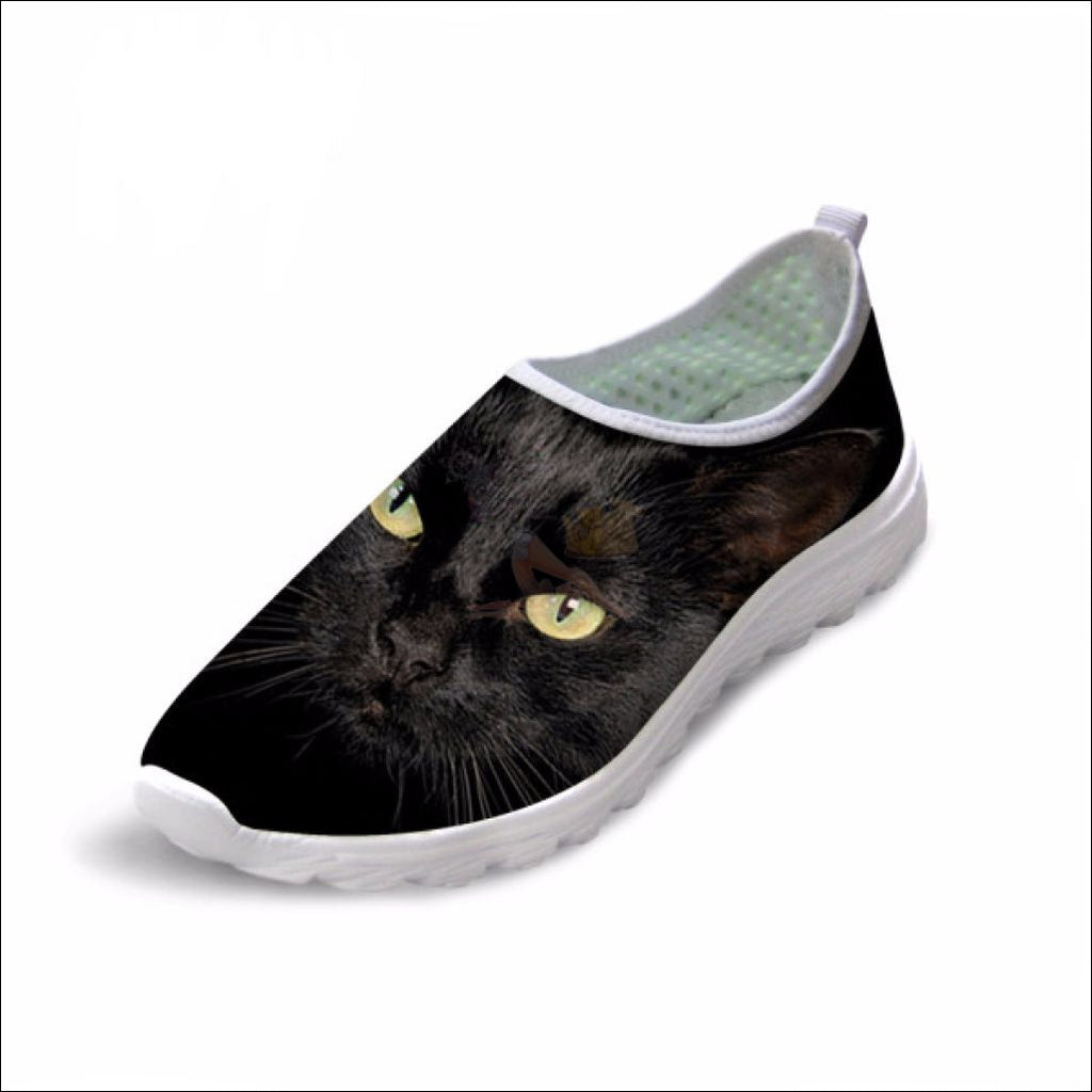 Cute Boho Cat Penny Loafers | Womens Loafers Boho Cat 6 by Blissfactory Pet Supplies