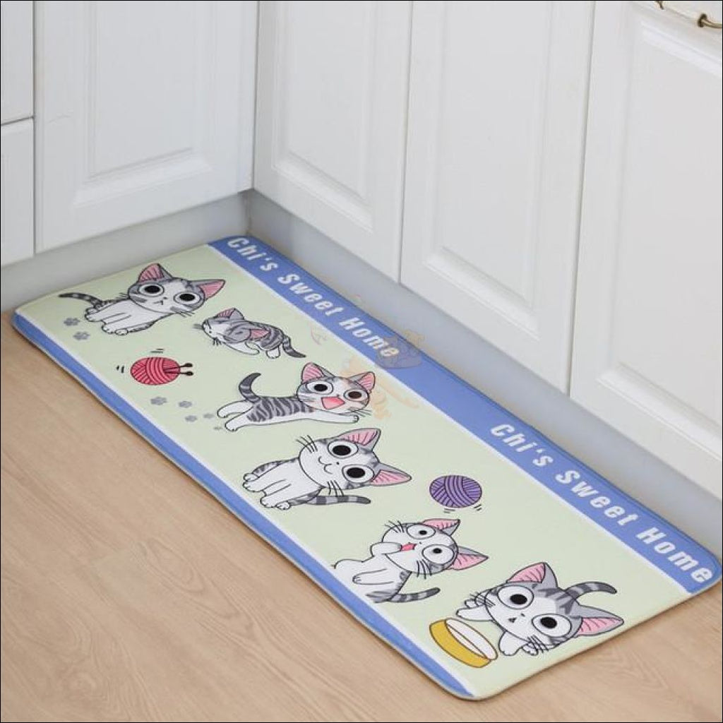 Cute Cat Anti-Slip Rugs | kitchen rugs | modern rugs 4 By Blissfactory Pet Supplies