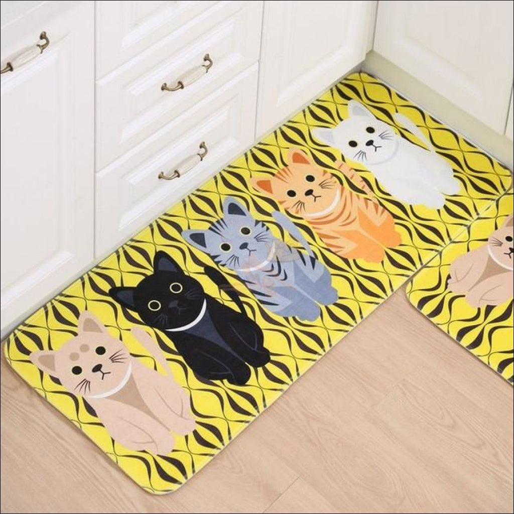 Cute Cat Anti-Slip Rugs | kitchen rugs | modern rugs 6 By Blissfactory Pet Supplies