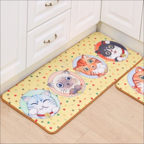 Cute Cat Anti-Slip Rugs | kitchen rugs | modern rugs 2 By Blissfactory Pet Supplies