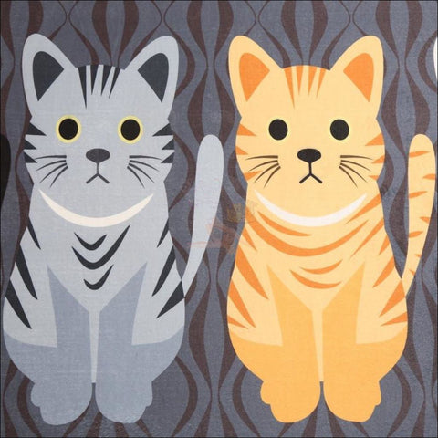 Cute Cat Anti-Slip Rugs | kitchen rugs | modern rugs Design By Blissfactory Pet Supplies