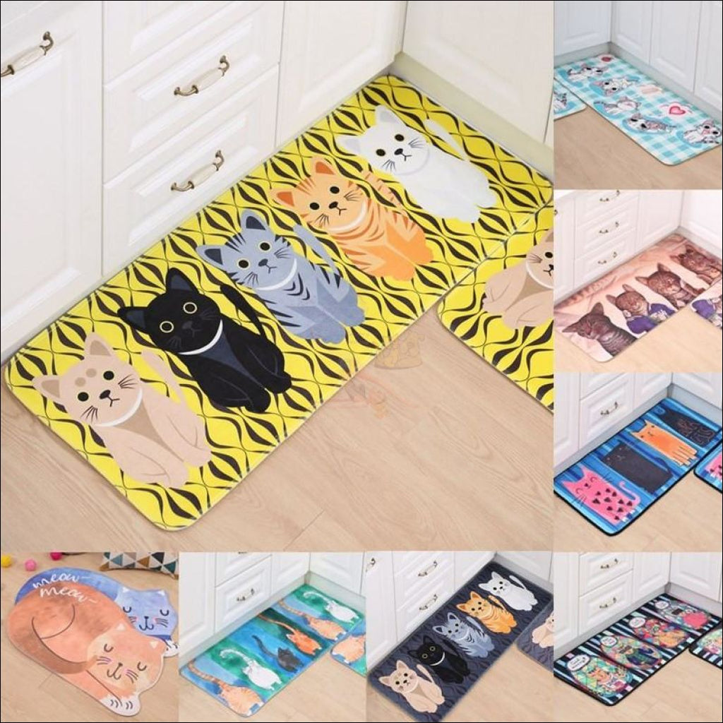 Cute Cat Anti-Slip Rugs | kitchen rugs | modern rugs Different variants By Blissfactory Pet Supplies