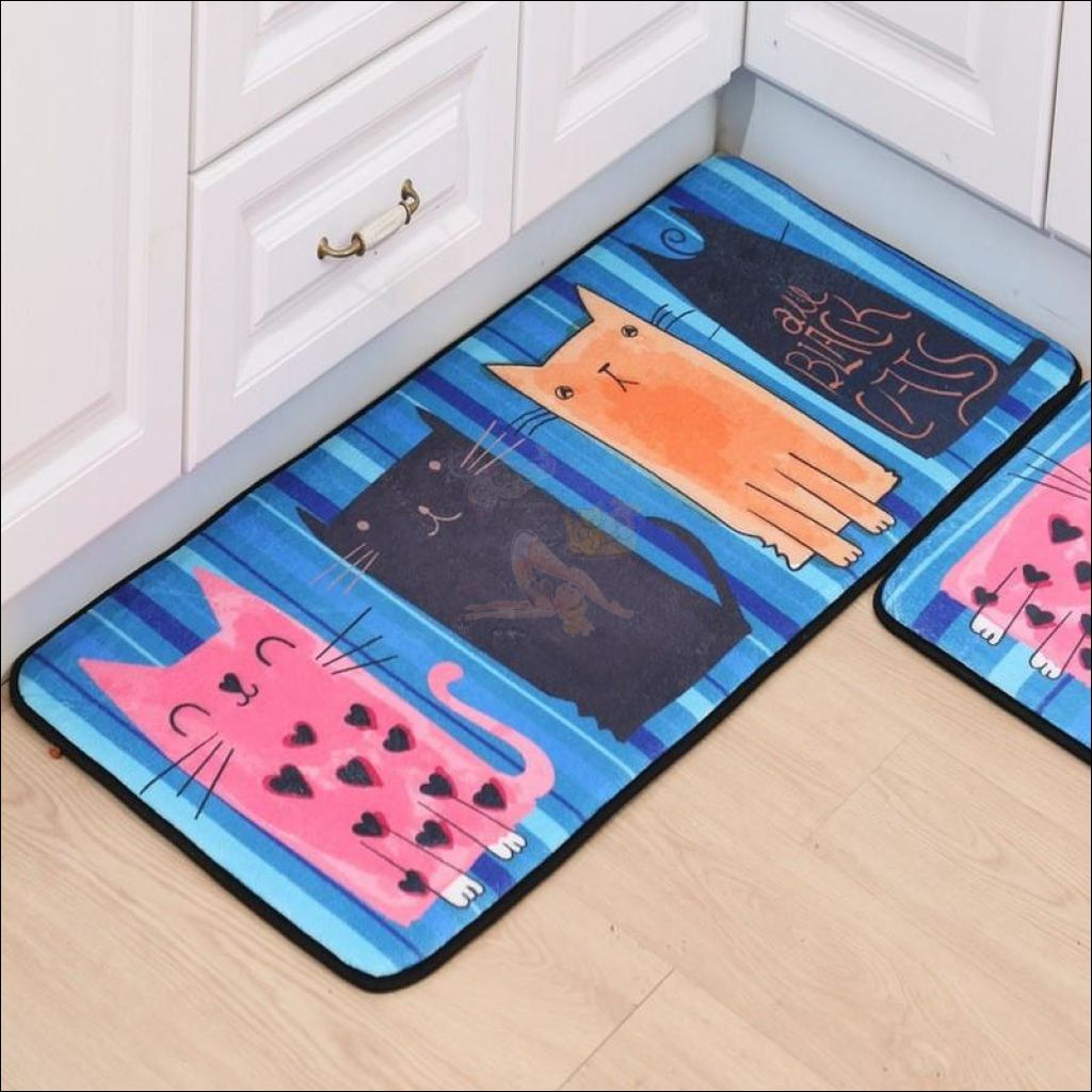 Cute Cat Anti-Slip Rugs | kitchen rugs | modern rugs 1 By Blissfactory Pet Supplies