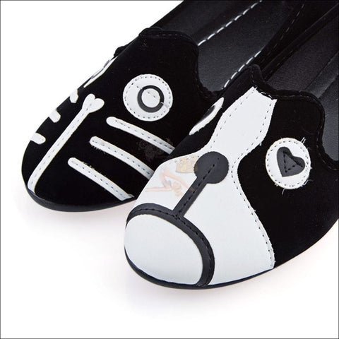 Sweet Cat Penny Loafers - Best Canvas Shoes Design By Blissfactory Pet Supplies