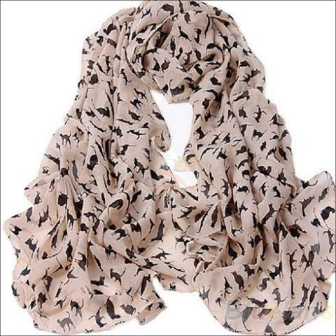 Sweet Cat Neck Scarf- Best Chiffon Scarf sweet Pink By Blissfactory Pet Supplies