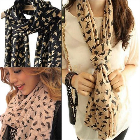 Image of Sweet Cat Neck Scarf- Best Chiffon Scarf 3 colors By Blissfactory Pet Supplies
